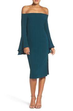 Bardot 'Solange' Off the Shoulder Midi Dress available at #Nordstrom