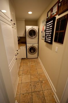 Narrow Laundry Room Storage and Folding Station                                                                                                                                                                                 Plus