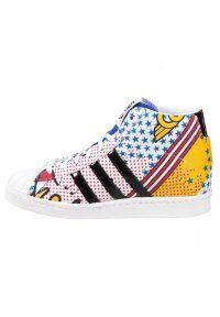 adidas Originals - RITA ORA SUPERSTAR UP - Sneakers alte - white/core black/bright yellow