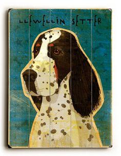 Llewellin Setter Vintage Sign: Custom Vintage Signs