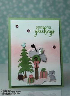 CC599 ~Seasons Greetings~ by MaryR917 - Cards and Paper Crafts at Splitcoaststampers.  (Pin#1: Christmas: Critters.  Pin+: Dies: Cottage Cutz).