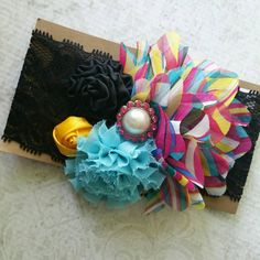 Use code SUMMER50 for 50% OFF your $20 purchase!! Hey, I found this really awesome Etsy listing at https://www.etsy.com/listing/233083081/deluxe-bloom-band-in-multi-and-black