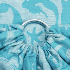 Fidella Sirens Blue Ring Sling (Linen blend)