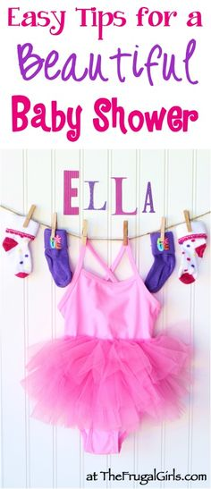 Baby Shower Ideas and Tips -- HUGE List! ~ from TheFrugalGirls.com - you'll love these fun ideas for girls and boys themes - food, games, gifts, and beautiful decorations for the BEST Baby Showers ever!! #thefrugalgirls
