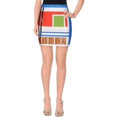 Dsquared2 Mini Skirt ($625) ❤ liked on Polyvore featuring skirts, mini skirts, ivory, short white skirt, dsquared2, multi color skirt, ivory mini skirt and short tube skirt