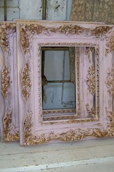 Shabby chic pink frame soft muted colors gold by AnitaSperoDesign, $90 ...