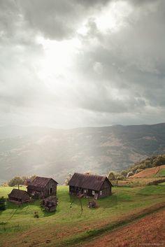 Village in Carpathian mountains