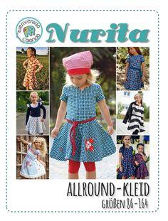 Allroundkleid für Mädchen Gr. 86-164 NURITA von Bienvenido Colorido ist ein richtiges Allround-Kleid fürs ganze Jahr! Das Oberteil hat eine schmale Passform, die Taille etwas höher angesetzt, wodurch das ausgestellte Rockteil schön...