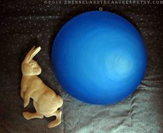 the hare in the moon, shared a tale by tonytheplane on Etsy