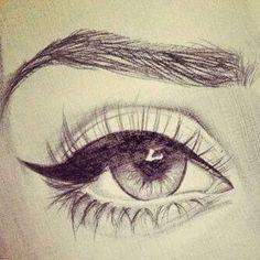 Sketch drawing eye art