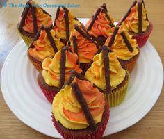 Ginger Bonfire Cupcakes