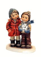 Hummel A Star for You Hummel Figurine 2222 Sold Out..SWAROVSKI STAR they are holding..wow!!