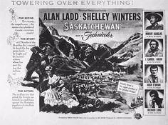 photo add slick Alan Ladd film Saskatchewan 3611-02