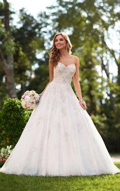 6048 Silver Lace Wedding Dresses by Stella York