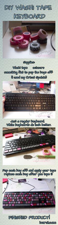 washi tape keyboard.  www.ivarai.com
