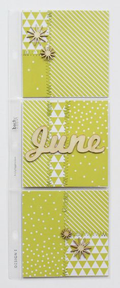 PROJECT LIFE MONTHLY DIVIDER - JUNE by kellyxenos at @Studio_Calico