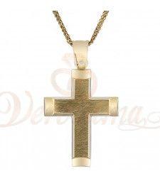 Σταυρός ανδρικός χρυσός Κ14 ST_115 Symbols, Letters, Letter, Lettering, Glyphs, Calligraphy, Icons