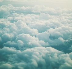 I love flying and seeing turquoise clouds