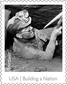The Made in American stamp sheet, which includes this stamp featuring a coal miner, will be issued Thursday, August 8, in Washington, D.C., and dedicated Friday, August 9, in Wilkes-Barre, Pennsylvania.
