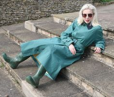 Mackintosh Raincoat, Hunter Wellies, Rubber Raincoats, Rain Wear, Duster Coat, Women Wear, Lady, How To Wear, Jackets