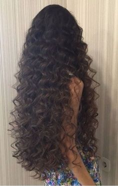 """""""Allegra"""" Long Curly Wig With Brown Highlights human hair wig Long Curly Hair, Wavy Hair, Curly Hair Styles, Natural Hair Styles, Thin Hair, Hairstyles With Bangs, Pretty Hairstyles, Straight Hairstyles, Trending Hairstyles"""