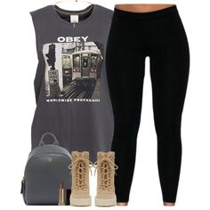 Carry On by oh-aurora on Polyvore featuring OBEY Clothing, adidas Originals…