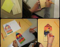 Her er hvad mine 5. klasser har fået ud af at arbejde med fantasifulde huse, inspireret af Hundertwasser. Først så vi billeder af Hundertw...