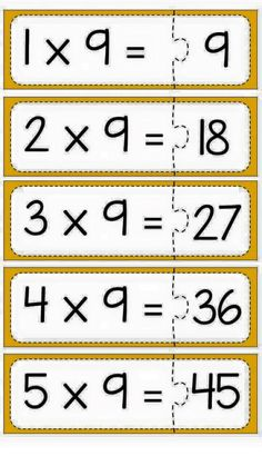 Multiplication puzzle for school Math Tables, Multiplication Games, Homeschool Math, Math Facts, Math For Kids, Teaching Math, Math Centers, Math Activities, Kids Learning