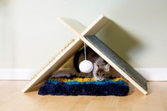 Find out how to make this modern cat tent from the experts at HGTV.com.