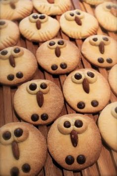 My own owl cookies! Fall Cookies, Cute Cookies, Yummy Treats, Sweet Treats, Yummy Food, Cookie Recipes, Dessert Recipes, Icing Recipes, Biscuit Decoration