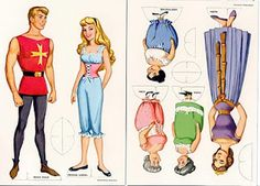 I had this set when I was growing up, and it was a favorite! Sleeping Beauty paper dolls