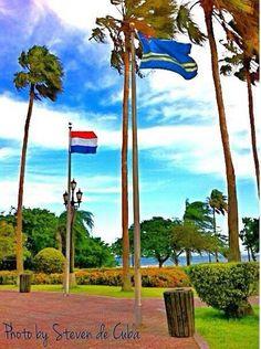 Flags Aruba & The Netherlands