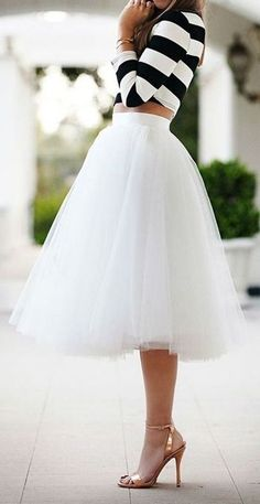 White Women Ladies Girls Tutu Tulle Skirts Princess Ballet Party Prom Mini Dress