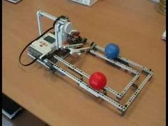 NXT Ball Roller Coaster - YouTube Lego Nxt, Lego Robot, Robots, Lego Mindstorms, Lego Technic, Diy Coasters, Roller Coaster, Projects For Kids, Legos