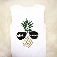 ALoha Beaches Shirt Baby Shower Gift Coming by SparkledwithGraceCo