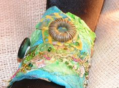 Fairy Circles  Fabric Cuff by OfBrushandNeedle on Etsy, $20.00