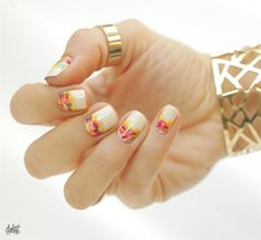30+ Glamorous Short Acrylic Nail Art Designs - Fashonails