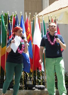 Intercultural Day master and mistress of ceremonies.