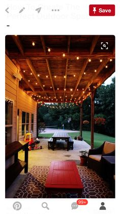 52 Spectacular Outdoor String Lights To Illuminate Your Patio  Like The  Easy To Build Tables