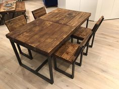 Reclaimed Industrial Chic 6-10 Seater Solid Wood by RccFurniture