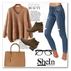 """""""Shein 8"""" by zina1002 ❤ liked on Polyvore featuring Prada"""