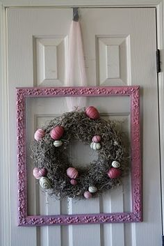 wreath for easter. This would b so pretty to add a cross in the middle