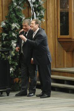 Still of William Shatner and James Spader in Boston Legal (2004)