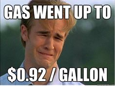 First World Problems From The 90s. I distinctly remember my parents bitching about gas going over $1/gallon. Ah, the good ol' days.
