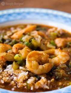 This classic Louisiana stew is made with shrimp, the Holy Trinity of onion, celery, and green pepper, and a simple roux to thicken it up. Serve it over rice for a true Cajun meal! Creole Recipes, Cajun Recipes, Seafood Recipes, Cooking Recipes, Haitian Recipes, Donut Recipes, Pasta Recipes, Prawn Recipes, Dinner Recipes