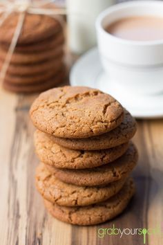 I substituted golden syrup for honey and some brown for white sugar. I substituted golden syrup for honey and some brown for white sugar. Ginger Nut Biscuits, Ginger Cookies, Yummy Cookies, Honey Biscuits Recipe, Lemon Biscuits, Coffee Biscuits, Jam Cookies, Sugar Cookies, Fun Baking Recipes