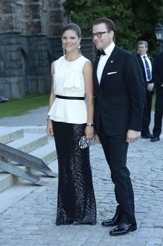 King Carl Gustaf 's 40th jubilee Celebrations - Dinner-Crown Princess Victoria and Prince Daniel, 14 September 2013