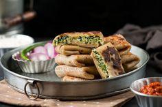 Whole Wheat Spinach Paneer Lifafa Paratha