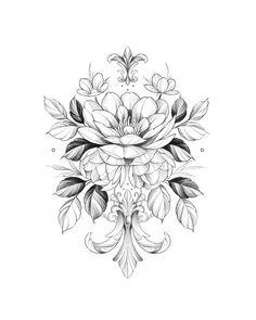 Mandala Tattoo Design, Flower Tattoo Designs, Graffiti Art, Trash Polka, Blackwork, Girl Tattoos, Tattoos For Women, Flor Tattoo, Pencil Art Drawings