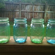 Did it myself!!! Glass stain your mason jars for a colorful decoration!! Instructions found on Pinterest!!